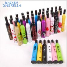 Fabricação Presente Premium Mão Aberta Publicidade Promocional Presente de Impressão Logotipo Personalizado Marca Garrafa Tampão Garrafa De Vinho Guarda-chuva