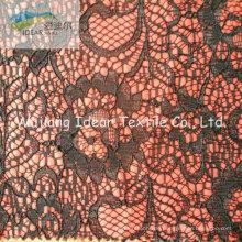 Spitze Stoff verklebt mit Polyestergewebe für Everyning Kleid