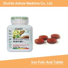 Bonne qualité de la plaque de l'acide folique de fer médical