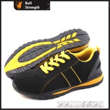Geniune Leather Safety Shoes with Steel Toe and Rubber Sole (SN5169)