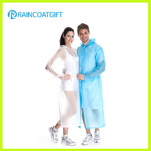 Unisexe Transparent Long PVC Raincoat Rvc-017