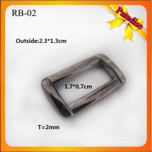 RB02 Custom Fashion garment metal buckle for square ring and bag buckle