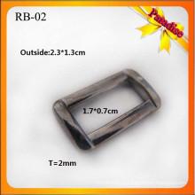 RB02 Custom Moda fivela de metal de vestuário para anel quadrado e fivela saco