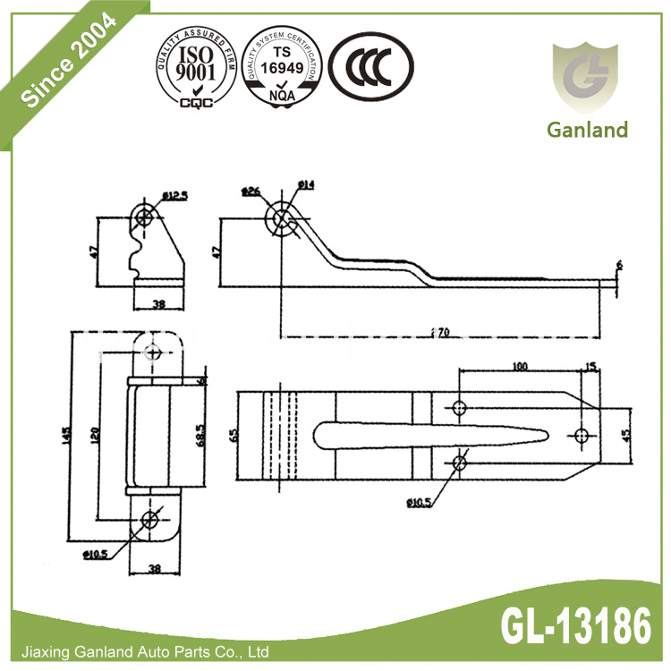 over the Seal Hinges specification GL-13186Y6