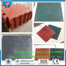 Carrelage en caoutchouc coloré fabriqué à partir de 100% de SBR