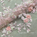 Pink Lace Fabric Beaded Embroidery Kain Handmade