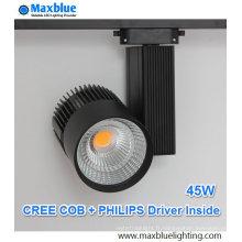 45W CREE COB LED + éclairage de piste de pilote Philips avec garantie de 5 ans