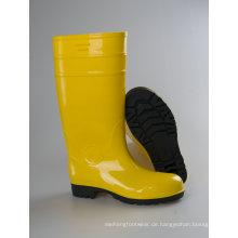 Wellington Sicherheit PVC Lackoptik, Safetyboots für Männer Regen Stiefel
