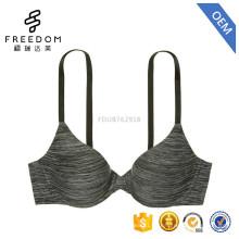 Súper comodidad sexy en forma de U espalda ligeramente forrada 3/4 taza sujetador modelo señoras simples xxx sujetador sexy imagen