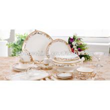 Новый дизайн тиснения 42% костяной золы великолепный Fine bone china container home