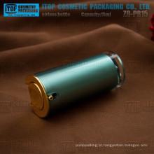 ZB-PR15 15ml devenda popular e clássico do atarraxamento airless frasco redondo 15ml