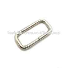 Moda de alta calidad de metal rectangular hebilla del anillo
