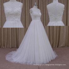 La nouvelle épaisse robe de mariée en mousseline de soie en couches Aline