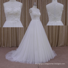 The New Thick Aline Layered Chiffon Wedding Dress