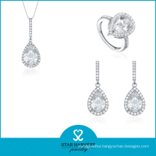 Heart Shape Cubic Zircon 925 Sterling Silver Jewelry Set (J-0196)