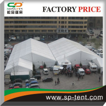 Aluminum Double Marquees side by side for exhibitions