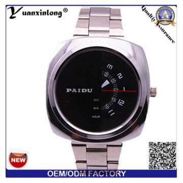 Yxl-368 Mann Uhr Square Gesicht Chronograph Quarz Edelstahl Watch Paidu Business Luxus Herren-Uhren Großhandel