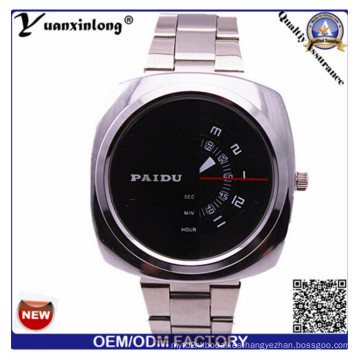 Yxl-368 hombre reloj cuadrado cara cronógrafo acero inoxidable reloj de cuarzo Paidu negocio lujo relojes para hombre venta al por mayor