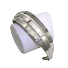 Estilo bonito aço inoxidável 3 camadas canal platina chapeado mulheres pulseira de punho
