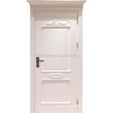 Swing Luxury Style Painted Raised Molding MDF Doors for Villa