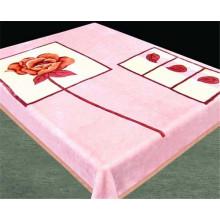 Super Soft Pink Flower 100% Acrylic Blanket