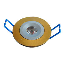 3w Led Down Lighting Fixtures 100 - 250vac With Lathing Aluminium Material