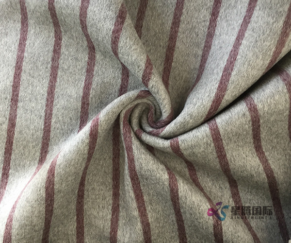 Red Stripe 100% Wool Fabric