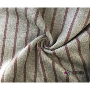 Red Vertical Stripe 100% Fabric Wool