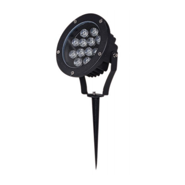 Dimmable Aluminum Black CREE LED Spike Light 12W