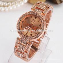 New hot sale Gold plated dragonfly slim stone quartz watch
