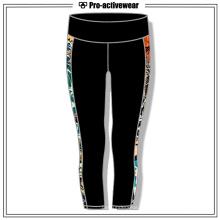 Coloridas mujeres fresco patrón de Capri Yoga Pantalones al por mayor