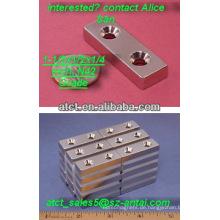 Magnet mit Schraubloch #6 Schrauben/Magnetfolie akzeptieren