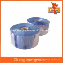 Горячая распродажа! Пластиковая термоусадочная пленка из ПВХ-голубой пленки для рулонной упаковки для бутылок или корпусов