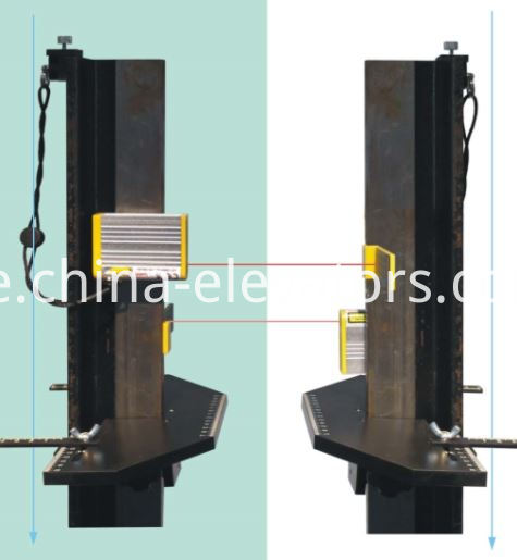 Laser Corrector for Elevator Guide Rail Installation