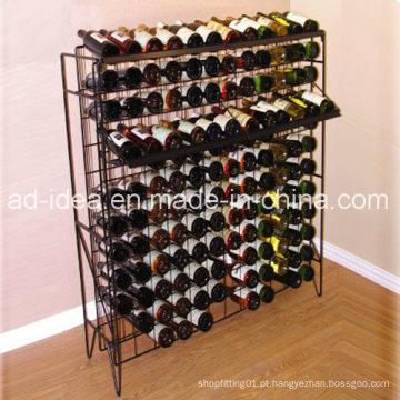 Suporte de exposição prático da loja de vinho / exposição para a apresentação do vinho do supermercado