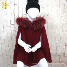 2017 fábrica por atacado moda nova estilo europa capa de capa de lã de crianças