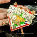 New design colorful custom metal lapel pins soft enamel with epoxy baseball badge
