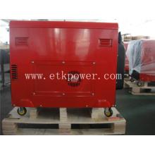 Conjunto de generador diesel de un solo cilindro refrigerado por aire color rojo (DG6LN)