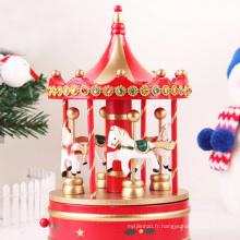 boîte à musique de carrousel de fournisseurs en gros d'ornement de Noël