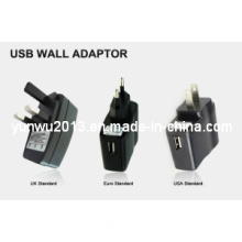 Hot Selling EU/UK/Us Wall Adapter with CE, FCC, RoHS Approved