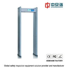 LED Display Screen Double Infrared Door Frame Metal Detector