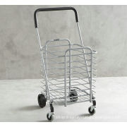 Powder Coated Metal Display Stands , Foldable Shopping Cart