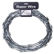 Razor barbed wires fencing
