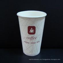 Taza de papel de papel de alta calidad de la taza de café de 4oz-20oz para la bebida fría caliente
