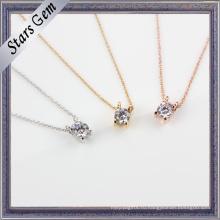 Самое новое элегантное кубическое циркониевое кольцо с ожерельем