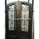 cheap wrought iron and glass gate door