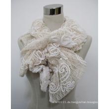 Damenmode Polyester Lace Schal mit Acryl Diamanten