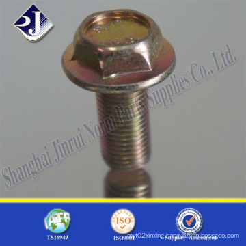 Flange Bolt with Zinc Yellow