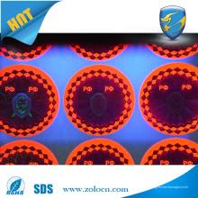 Sticker d'hologramme uv imprimé innovant ou impression d'encre UV holographique