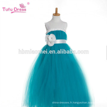 Filles Party Tutu robe avec des sangles rubans Piano Dress Vert Tulle Flower Girl robe princesse pour les enfants Pageant Performance